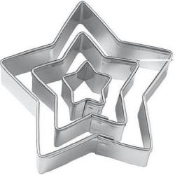 3 lü Yıldız Metal Kopat Kurabiye Kalıbı