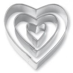 3 lü Kalp Metal Kopat Kurabiye Kalıbı
