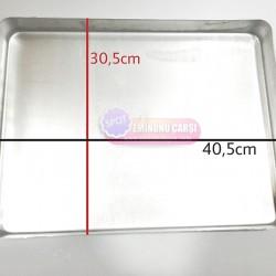 Baklava Tepsisi, Köşeli, Kalın, Alüminyum 30,5 x 40,5 x 3,5 cm