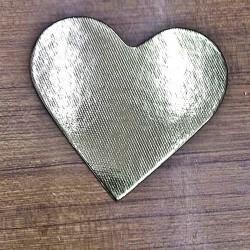Kalp Pasta Altlığı Altın Gold 11cm X10 cm