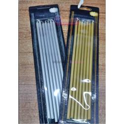 Altın İnce Uzun Çubuk Pasta Mumu 20 cm