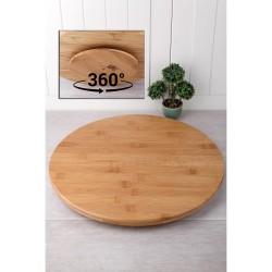 Ahşap Döner Başlıklı Pasta Sıvama Standı 25 cm