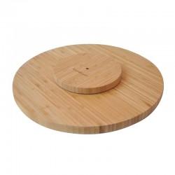 Bambum Ahşap Döner Başlıklı Pasta Sıvama Standı 35 cm