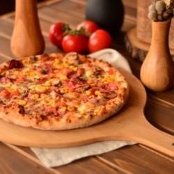 Bambum Ahşap Pizza Sunum Tahtası