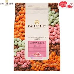 Callebaut Çilekli Mini Pul Çikolata 1 kg