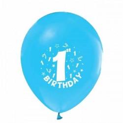 1 Yaş Mavi Renkli 6 lı Balon