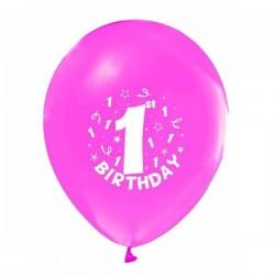 1 Yaş Pembe Renkli 6 lı Balon