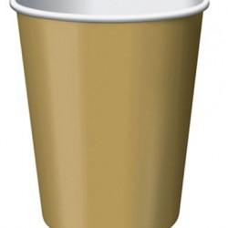 Altın Karton Parti Bardağı 8 adet