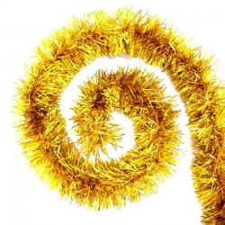Altın Sarısı Yılbaşı Parti Süsü Boyun Simi Kalın