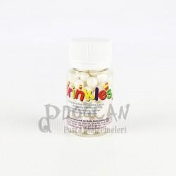 Beyaz Büyük Boy Draje Süsleme Şekeri 8mm