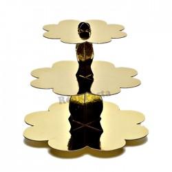 Cupcake Standı Altın Rengi 3 Katlı