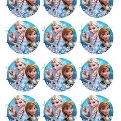Elsa Anna Olaf Frozen Yenilebilir Kurabiye Resim Baskısı