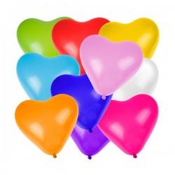 Kalp Karışık Renkli 6'lı Balon