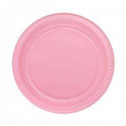 Pembe Renkli Plastik Parti Tabağı 25 Adet