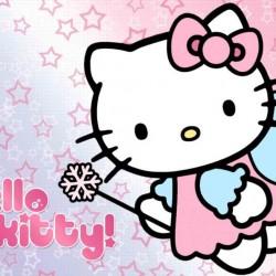 Peri Hello Kitty Kelebekli Yenilebilir Pasta Resim Baskısı