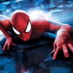 Spider Man Mavi Temalı Yenilebilir Pasta Resim Baskısı