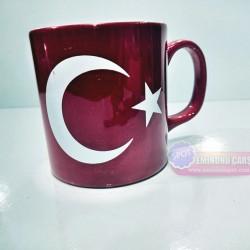 Türk Bayrağı Tasarımlı Kupa Bardak